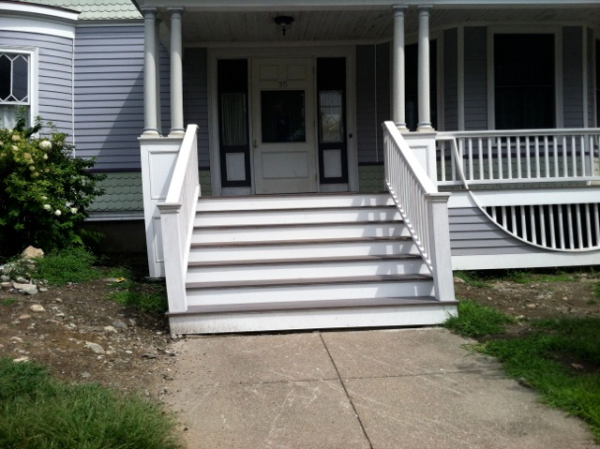 front entry walkway in watertown massachusetts before picture