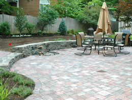 patio material and size
