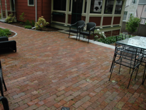 installed brick patio