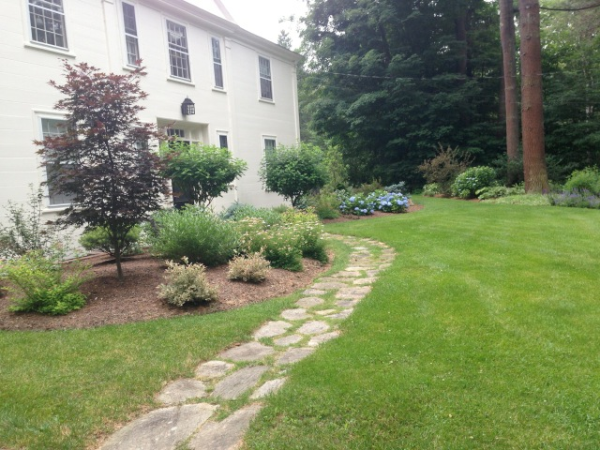field stone walkway