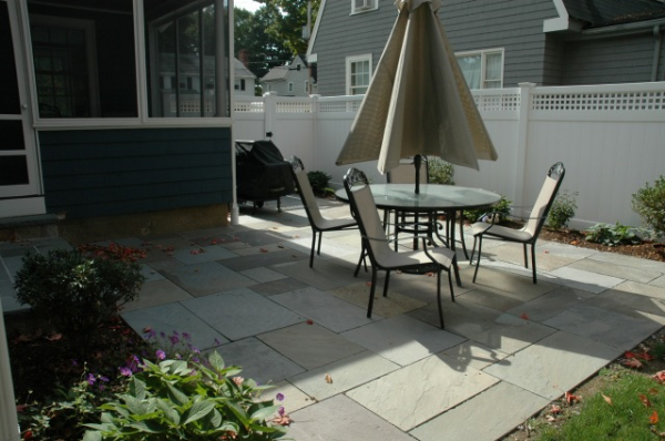 custom bluestone patio