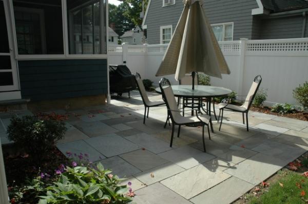 custom bluestone patio