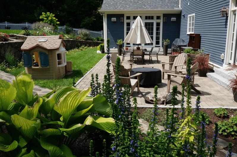 backyard patio garden oasis landscape
